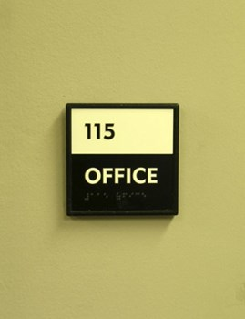 ADA and Wayfinding custom office sign 12
