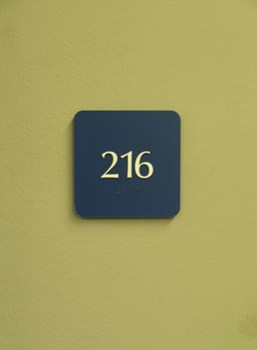 ADA and Wayfinding office identification sign